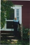 Aunt Dot, on the steps of her summer home in Vermont, in which I now live.