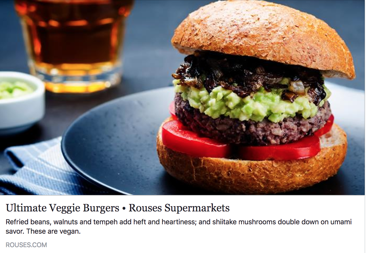 Rouses Markets Features Crescent's Ultimate Veggie Burger